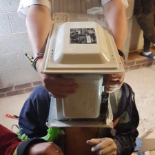 UK YouTuber cements a microwave to his head - Fire service not impressed