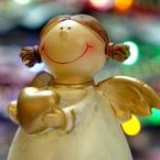 Be a charitable Christmas angel logo