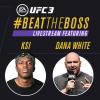 KSI hosts Twitch stream with UFC president Dana White
