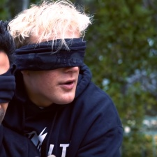 Jake Paul walks into busy traffic as part of viral Bird Box challenge